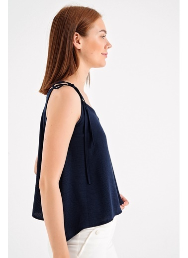 Jument Askılı Bol Kesim Bluz-Siyah Lacivert